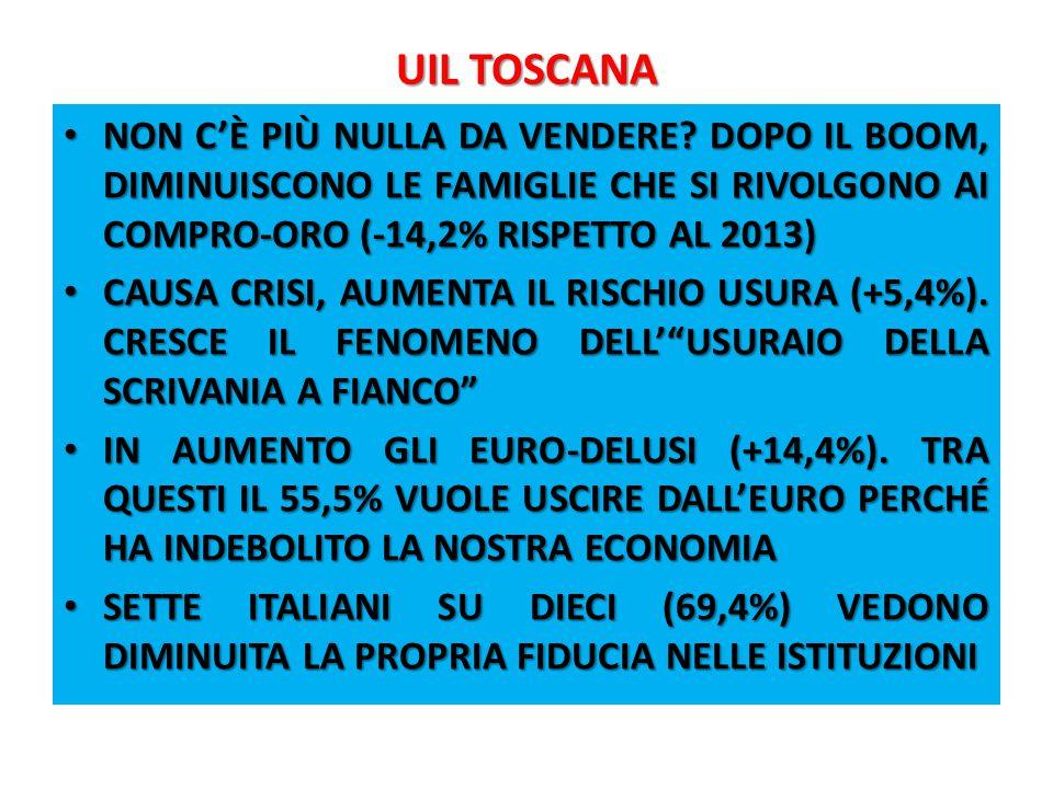 UIL TOSCANA 1.4 LE ANALISI DISPONIBILI IRPET.LUGLIO 2014.