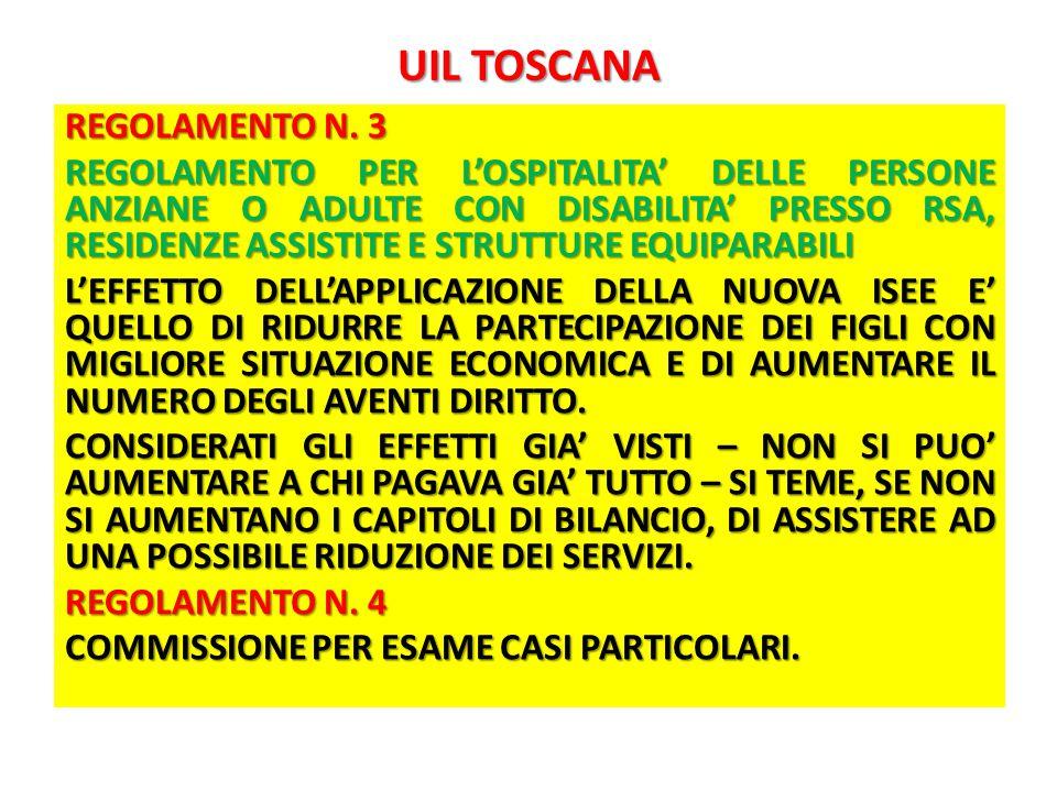 UIL TOSCANA REGOLAMENTO N.