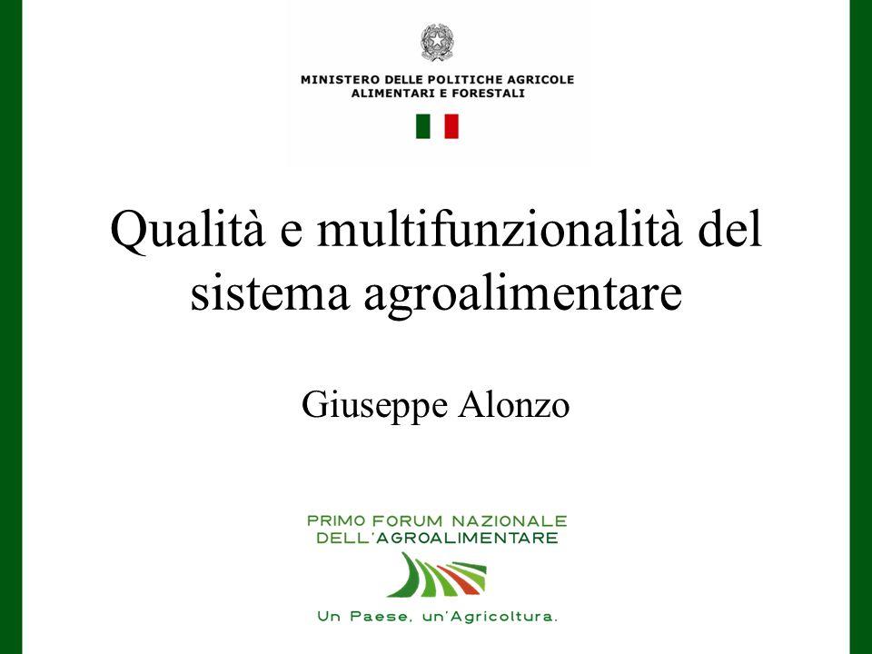 Qualità e multifunzionalità del sistema agroalimentare Giuseppe Alonzo