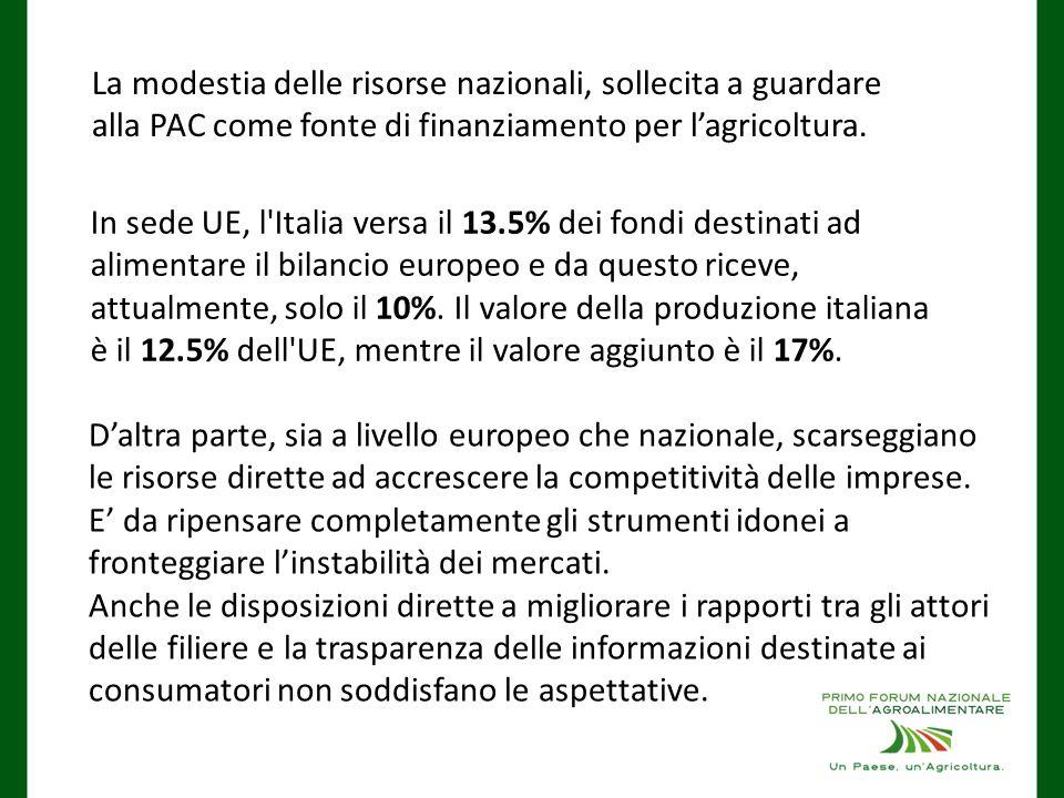 D'altra parte, sia a livello europeo che nazionale, scarseggiano le risorse dirette ad accrescere la competitività delle imprese.