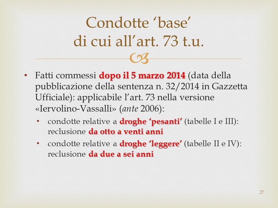  dopo il 5 marzo 2014 Fatti commessi dopo il 5 marzo 2014 (data della pubblicazione della sentenza n.