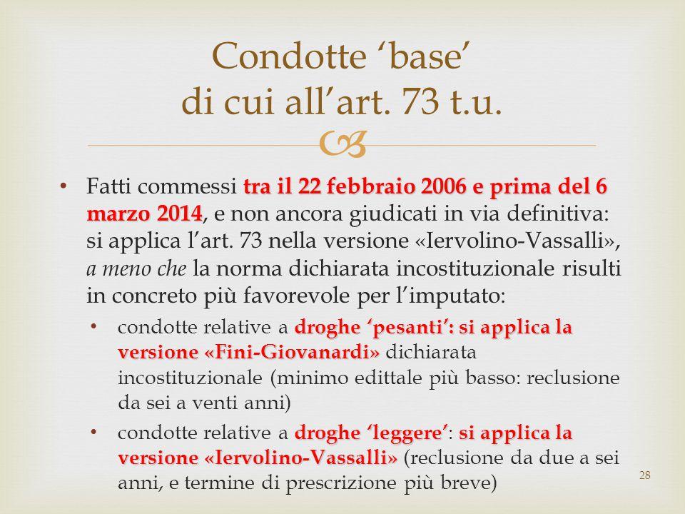  tra il 22 febbraio 2006 e prima del 6 marzo 2014 Fatti commessi tra il 22 febbraio 2006 e prima del 6 marzo 2014, e non ancora giudicati in via definitiva: si applica l'art.