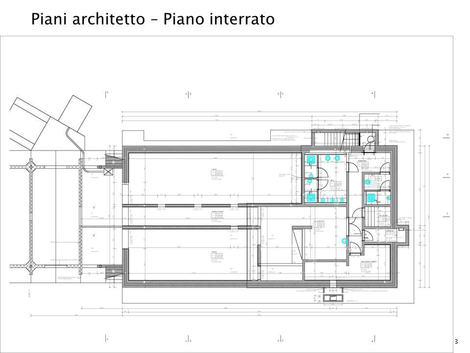 Piani architetto – Piano interrato 3