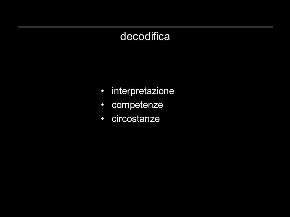 decodifica interpretazione competenze circostanze