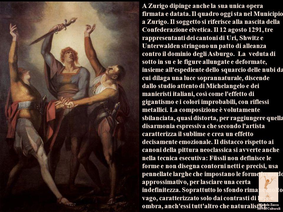 I pittori dell'immaginario Michela Zucca Servizi Culturali A Zurigo dipinge anche la sua unica opera firmata e datata.