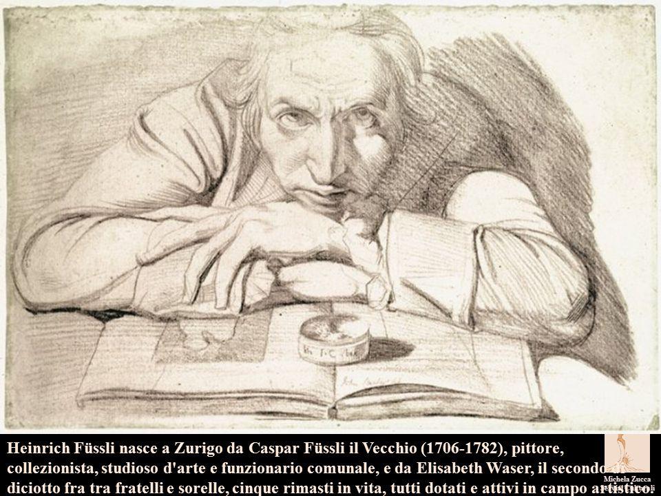 I pittori dell'immaginario Michela Zucca Servizi Culturali Non abbiamo alcun ritratto della fanciulla in questione, sebbene Füssli l abbia sicuramente disegnata quando si trovava in Svizzera.
