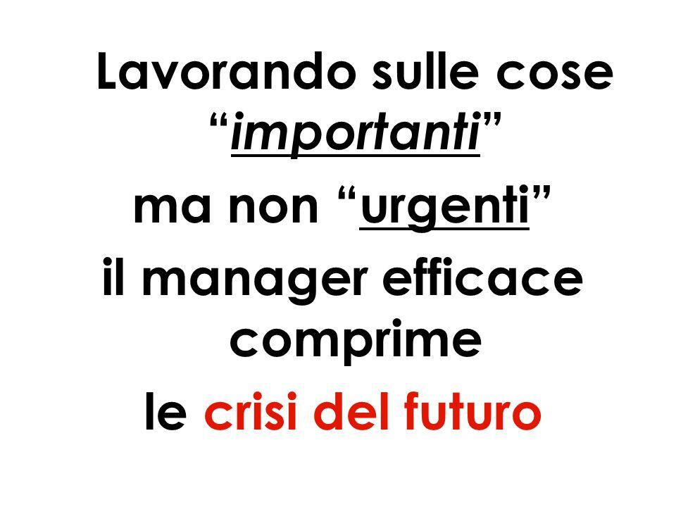 32 Lavorando sulle cose importanti ma non urgenti il manager efficace comprime le crisi del futuro