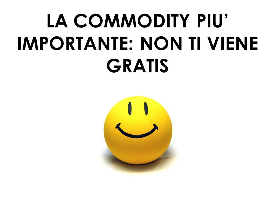 41 LA COMMODITY PIU' IMPORTANTE: NON TI VIENE GRATIS