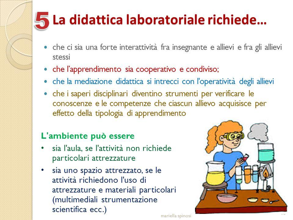 La didattica laboratoriale richiede… che ci sia una forte interattività fra insegnante e allievi e fra gli allievi stessi che l'apprendimento sia coop
