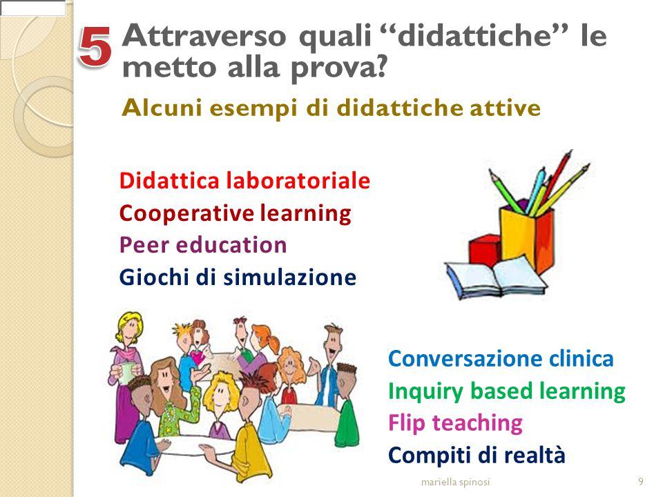 """Attraverso quali """"didattiche"""" le metto alla prova? 9mariella spinosi Alcuni esempi di didattiche attive Didattica laboratoriale Cooperative learning P"""