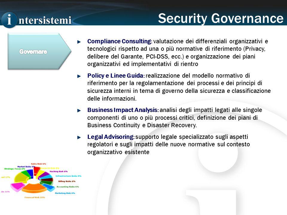 Compliance Consulting: valutazione dei differenziali organizzativi e tecnologici rispetto ad una o più normative di riferimento (Privacy, delibere del