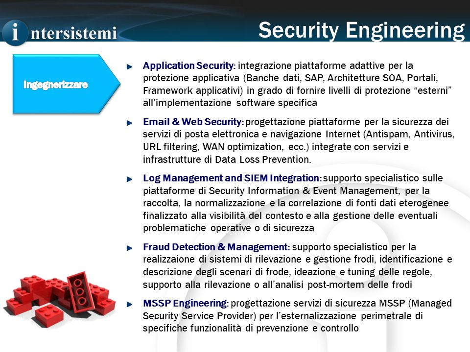 Application Security: integrazione piattaforme adattive per la protezione applicativa (Banche dati, SAP, Architetture SOA, Portali, Framework applicat