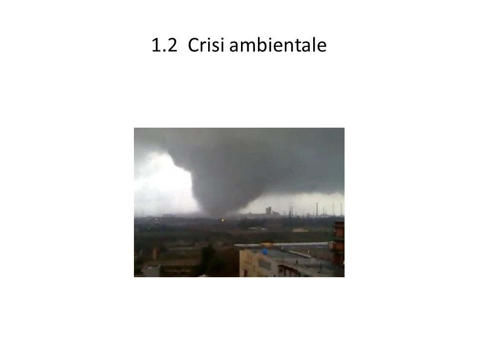 1.2 Crisi ambientale