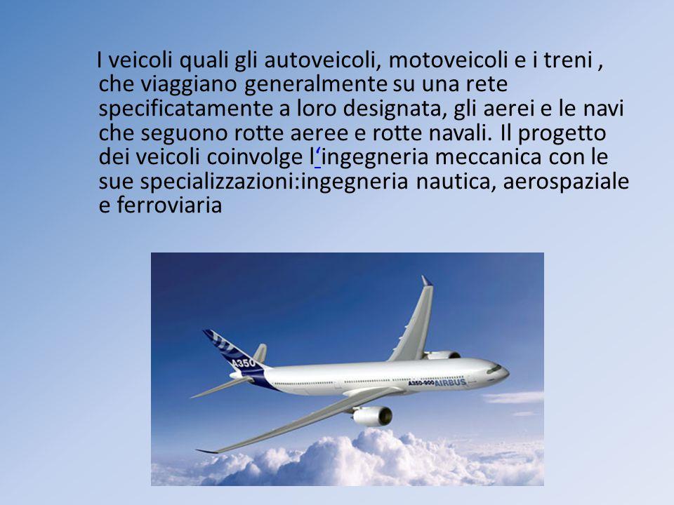 I veicoli quali gli autoveicoli, motoveicoli e i treni, che viaggiano generalmente su una rete specificatamente a loro designata, gli aerei e le navi