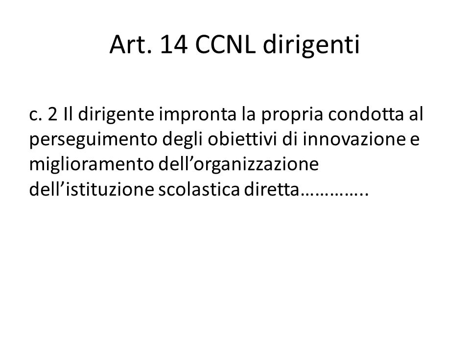 Art.14 CCNL dirigenti c.