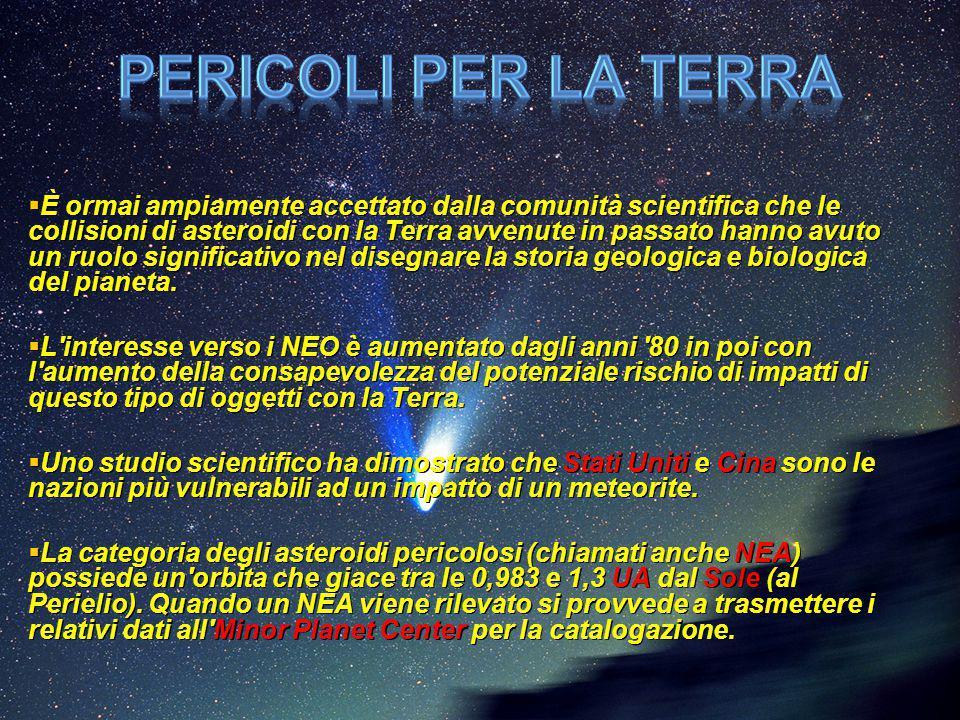  È ormai ampiamente accettato dalla comunità scientifica che le collisioni di asteroidi con la Terra avvenute in passato hanno avuto un ruolo signifi