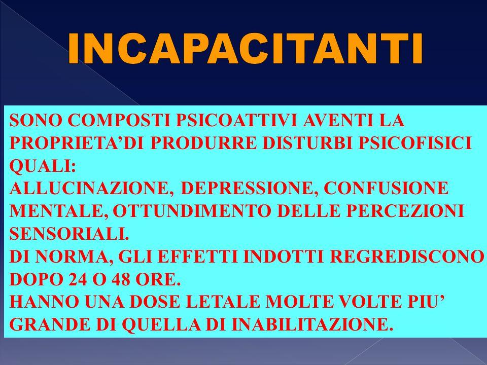 SONO COMPOSTI PSICOATTIVI AVENTI LA PROPRIETA'DI PRODURRE DISTURBI PSICOFISICI QUALI: ALLUCINAZIONE, DEPRESSIONE, CONFUSIONE MENTALE, OTTUNDIMENTO DEL