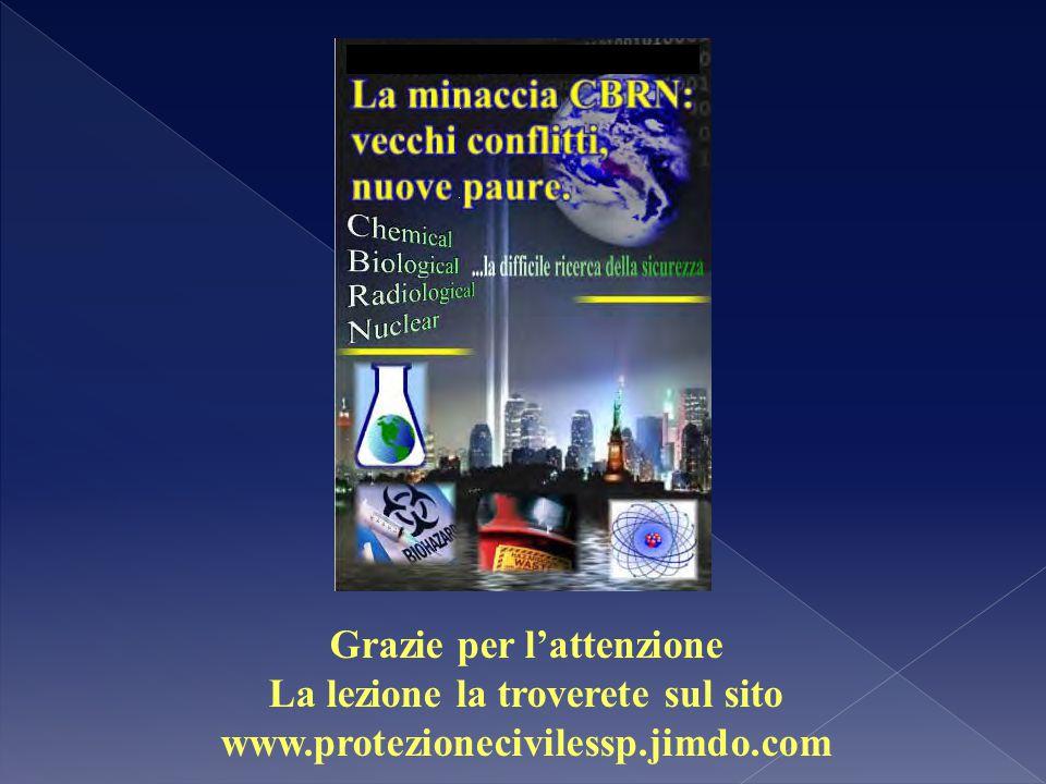  Grazie per l'attenzione La lezione la troverete sul sito www.protezionecivilessp.jimdo.com
