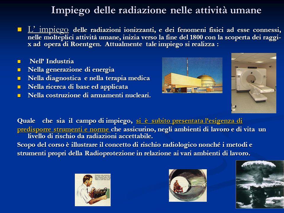 Effetti sulla personaEffetti sulla personaEffetti sulla personaEffetti sulla persona EFFETTI DELLE RADIAZIONI IONIZZANTI EFFETTI DELLE RADIAZIONI IONIZZANTI EFFETTI SUGLI ATOMI (Ionizzazione) EFFETTI SUGLI ATOMI (Ionizzazione) Morte della cellula Morte della cellula EFFETTI SULLA CELLULA Mutazione del DNA EFFETTI SULLA CELLULA Mutazione del DNA Riparazione del danno Riparazione del danno Immediati (Eritemi –Morte) Immediati (Eritemi –Morte) Somatici Somatici Tardivi (Leucemia tumori) Tardivi (Leucemia tumori) EFFETTI SULLA PERSONA EFFETTI SULLA PERSONA Genetici Genetici 0 1 Sv 4 Sv 7 Sv 0 1 Sv 4 Sv 7 Sv EFFETTI TARDIVIEFFETTI IMMEDIATI MORTE AL 50%