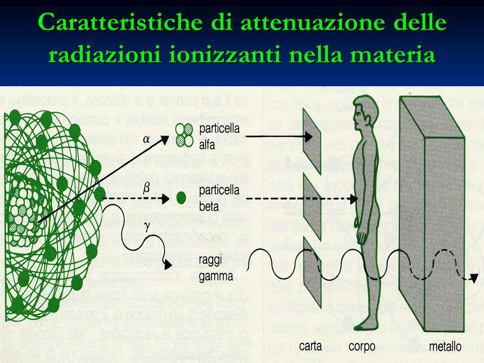Caratteristiche di attenuazione delle radiazioni ionizzanti nella materia