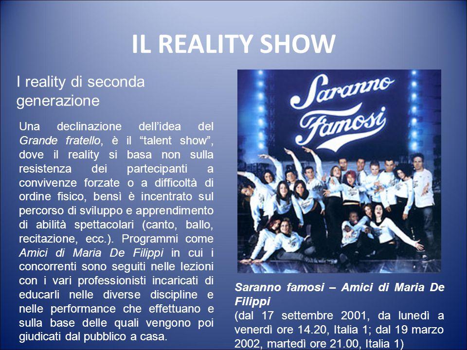 IL REALITY SHOW Grande fratello (prima edizione: da giovedì 14 settembre 2000 ore 21.00, Canale 5) I reality di seconda generazione Il Grande fratello