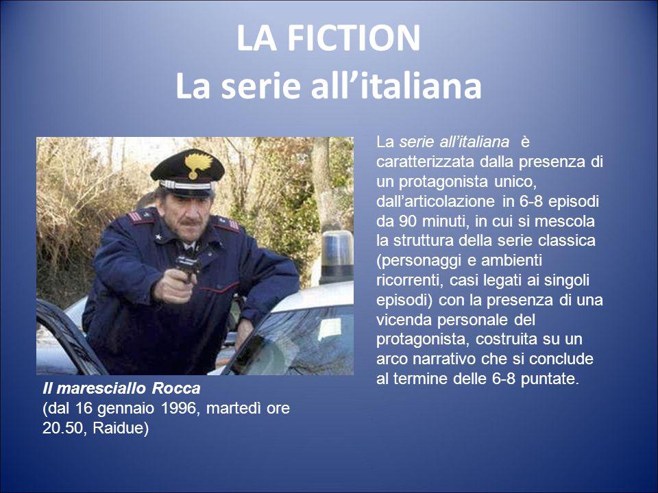 LA FICTION La serie serializzata La serie serializzata è un formato seriale che ibrida la storia autoconclusiva, propria della serie (la linea vertica