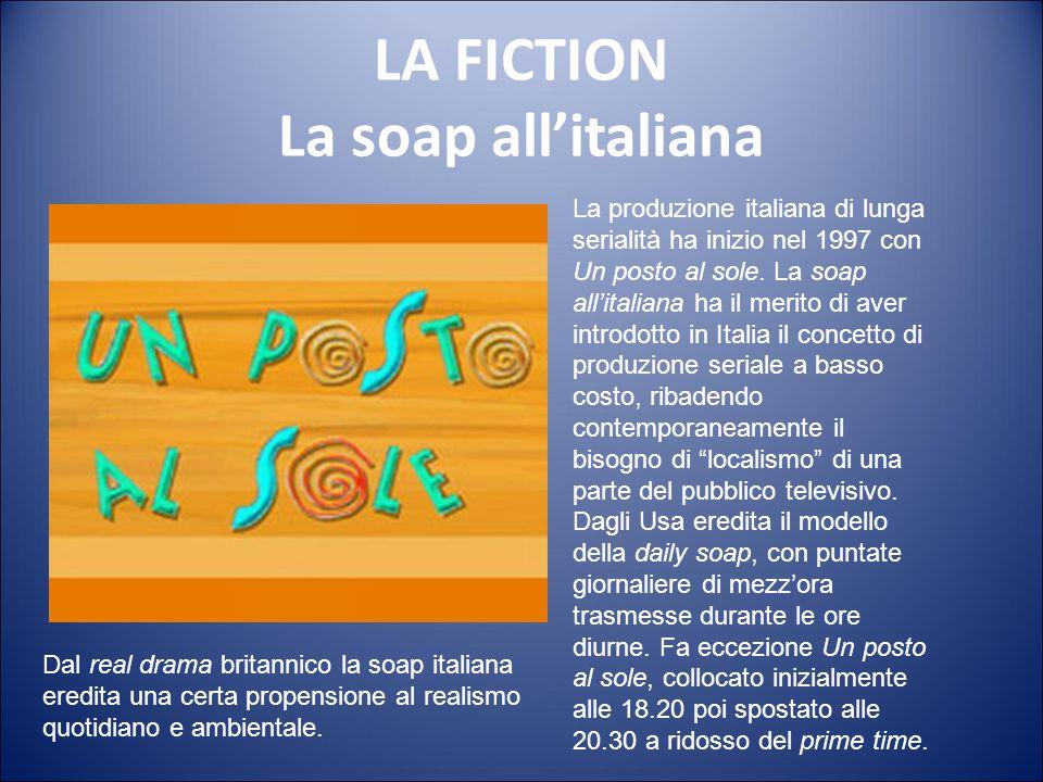 LA FICTION Il serial Il serial racconta una storia non autoconclusa nell'arco del singolo episodio ma di durata stagionale. È incentrato su uno o più