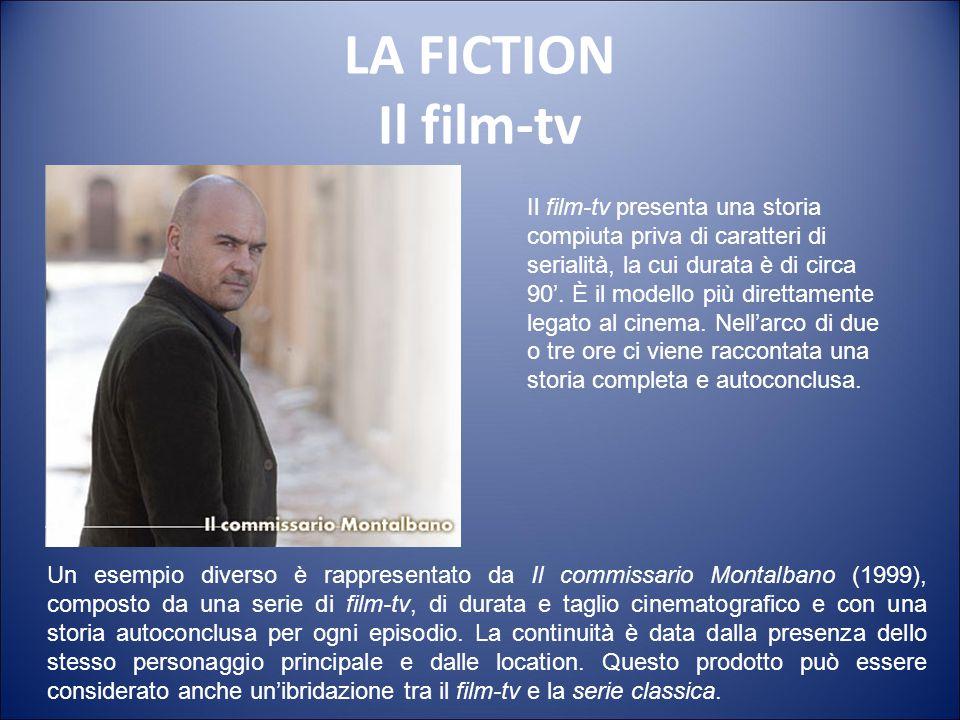 LA FICTION La miniserie La miniserie, da 2 a 8 puntate di media, sono la forma seriale preferita in Europa. Di diretta derivazione dal feuilleton e ro