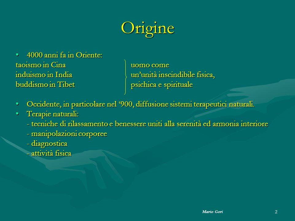 Mario Gori 43 Pensiero positivoPensiero positivo Vuole migliorare la qualità della vita l osservazione dei nostri pensieri.