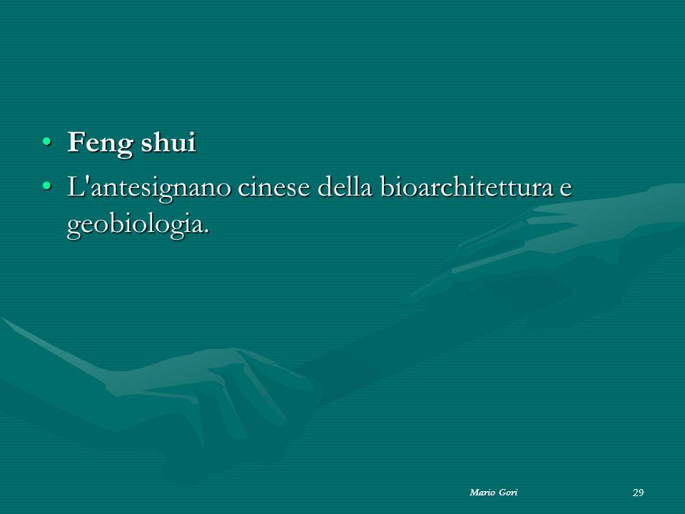 Mario Gori 29 Feng shuiFeng shui L'antesignano cinese della bioarchitettura e geobiologia.L'antesignano cinese della bioarchitettura e geobiologia.