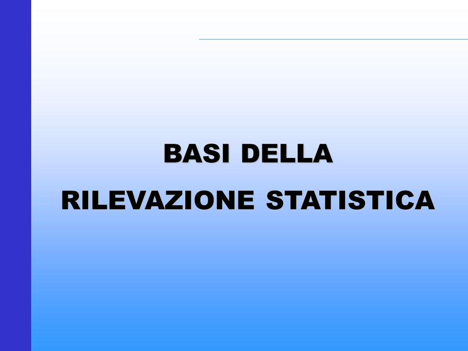 BASI DELLA RILEVAZIONE STATISTICA