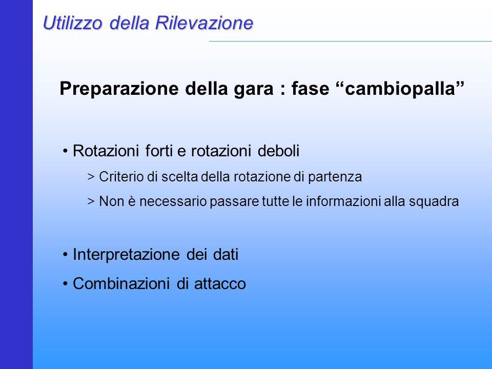 """Preparazione della gara : fase """"cambiopalla"""" Utilizzo della Rilevazione Rotazioni forti e rotazioni deboli > Criterio di scelta della rotazione di par"""