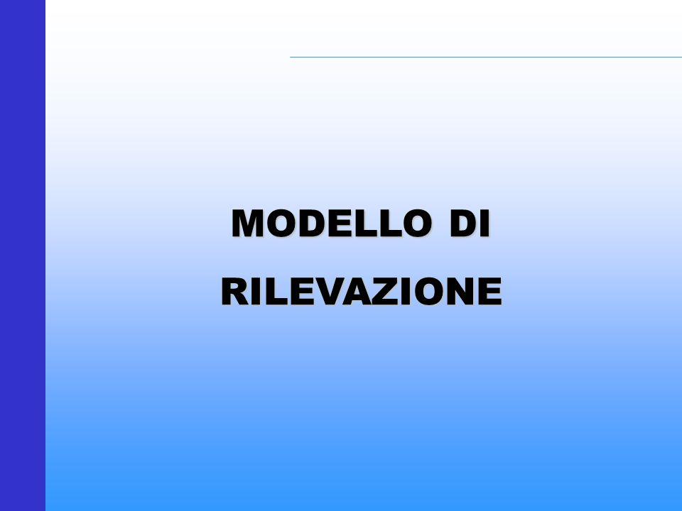 MODELLO DI RILEVAZIONE