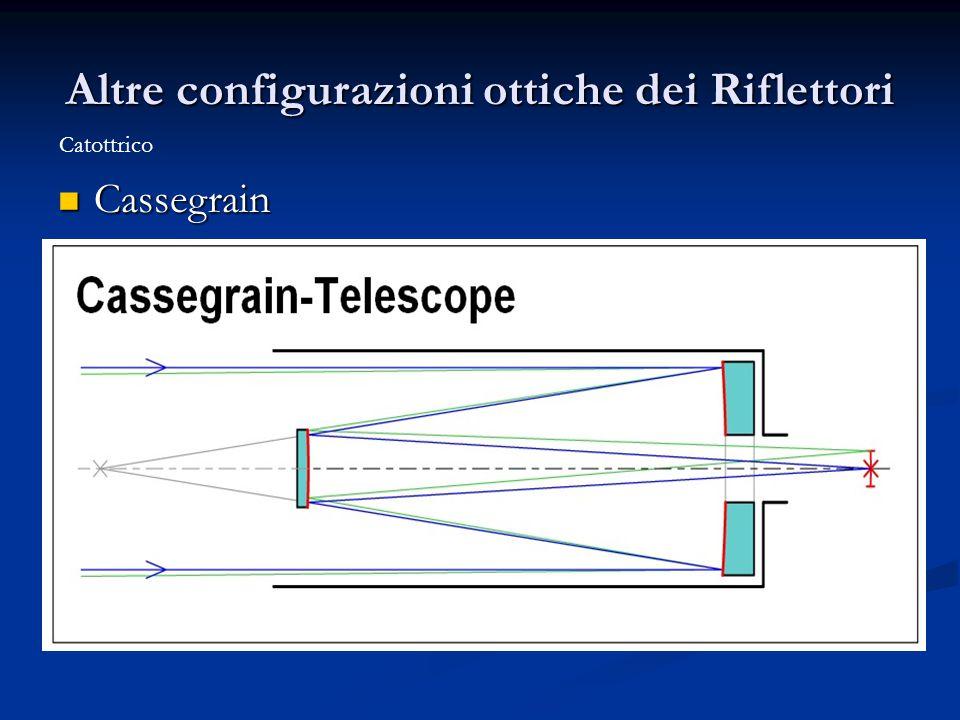Altre configurazioni ottiche dei Riflettori Cassegrain Cassegrain Catottrico