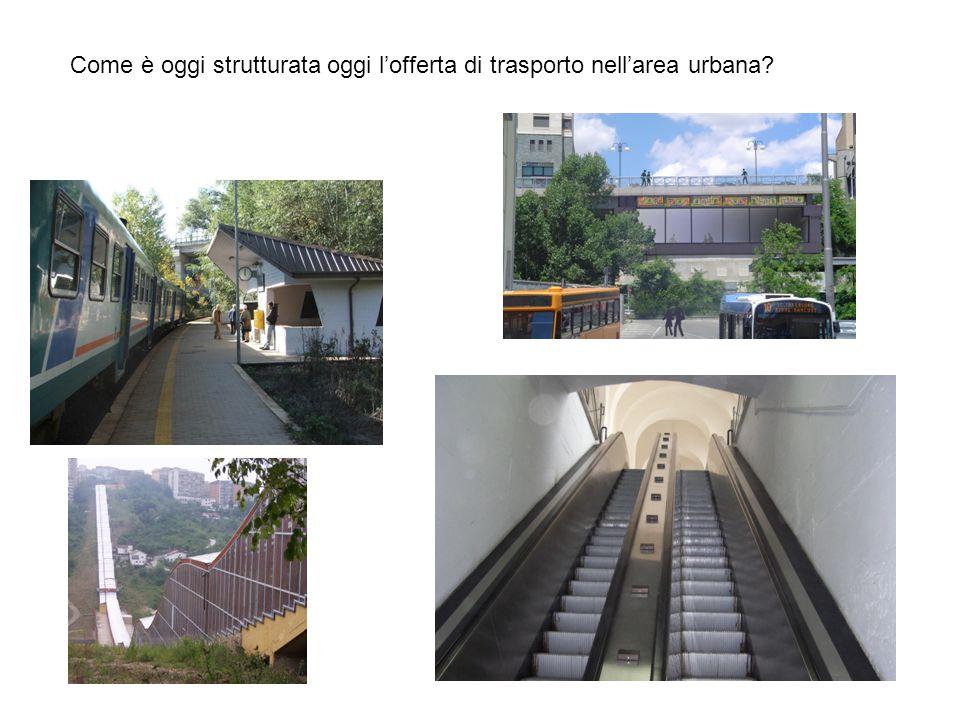 Come è oggi strutturata oggi l'offerta di trasporto nell'area urbana