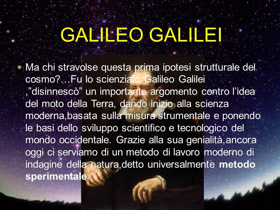"""GALILEO GALILEI Ma chi stravolse questa prima ipotesi strutturale del cosmo?…Fu lo scienziato Galileo Galilei,""""disinnescò"""" un importante argomento con"""