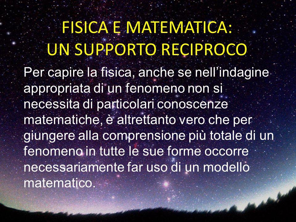 Per capire la fisica, anche se nell'indagine appropriata di un fenomeno non si necessita di particolari conoscenze matematiche, è altrettanto vero che