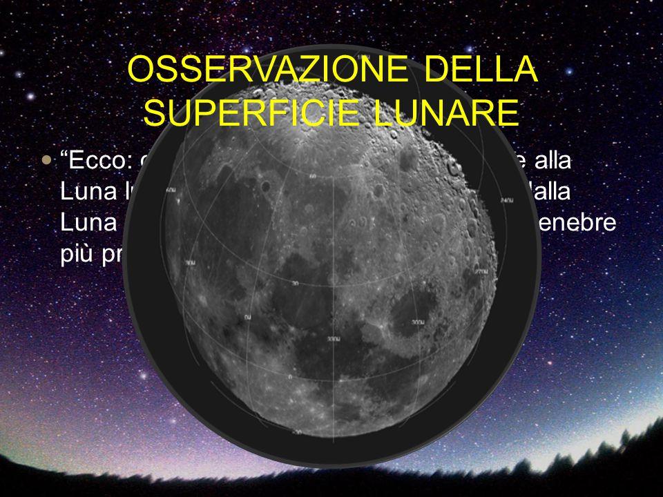"""""""Ecco: giustamente la Terra, grata, rende alla Luna luce pari a quella che essa stessa dalla Luna riceve per quasi tutto il tempo delle tenebre più pr"""