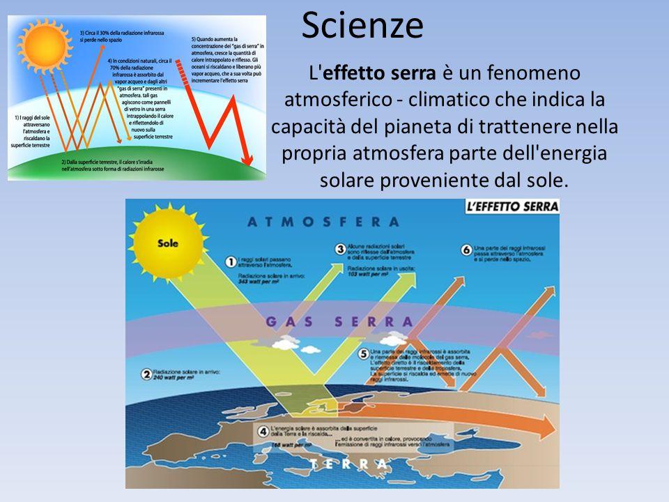 L'effetto serra è un fenomeno atmosferico - climatico che indica la capacità del pianeta di trattenere nella propria atmosfera parte dell'energia sola