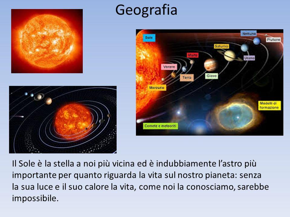 Geografia Il Sole è la stella a noi più vicina ed è indubbiamente l'astro più importante per quanto riguarda la vita sul nostro pianeta: senza la sua