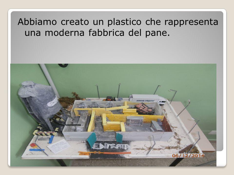 Abbiamo creato un plastico che rappresenta una moderna fabbrica del pane. Tecnologia - Classe 2B - ISC Monte Urano EXPO 2015 La produzione del pane