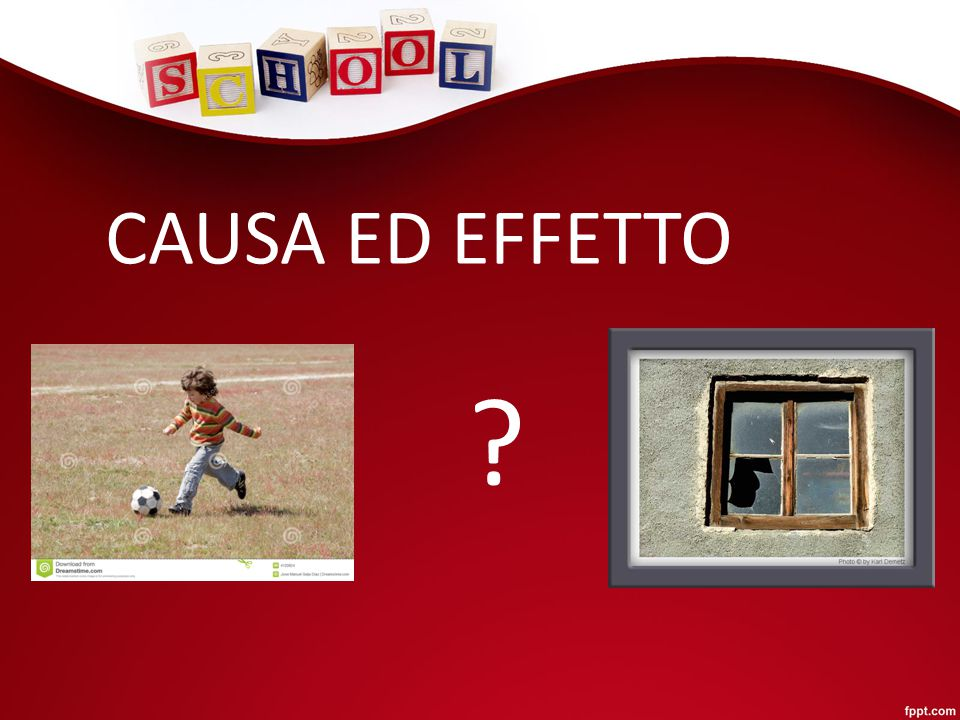 CAUSA ED EFFETTO ?