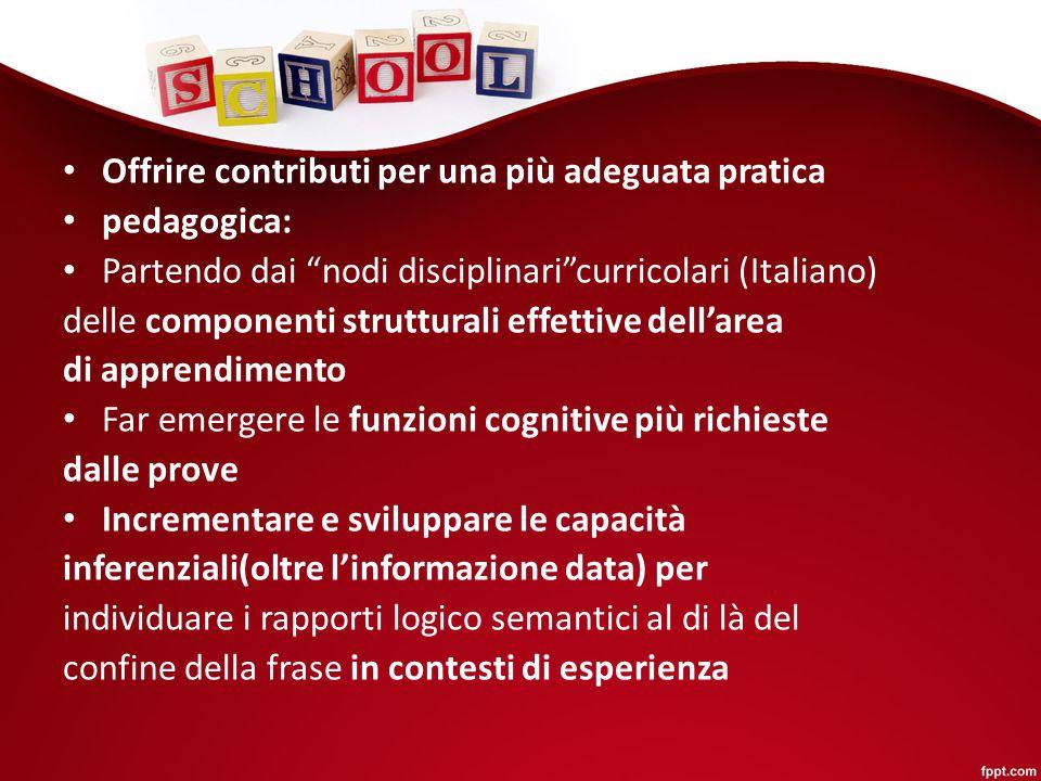 """Offrire contributi per una più adeguata pratica pedagogica: Partendo dai """"nodi disciplinari""""curricolari (Italiano) delle componenti strutturali effett"""