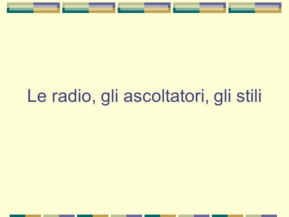 Le radio, gli ascoltatori, gli stili
