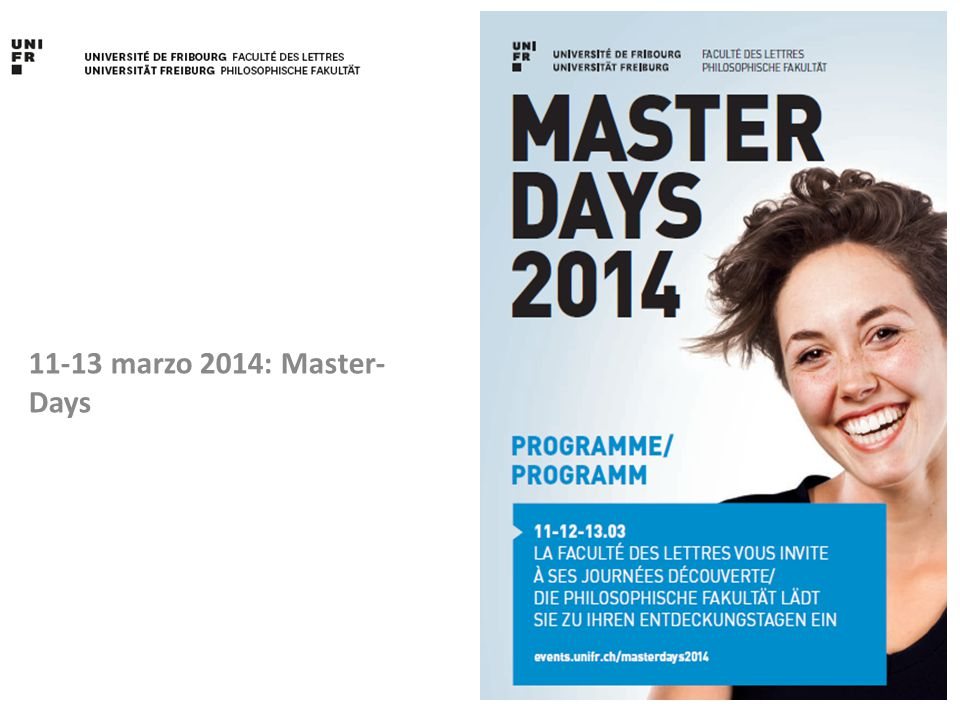 11-13 marzo 2014: Master- Days