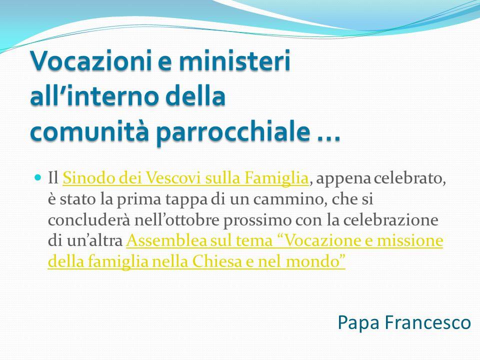 Papa Francesco Il Sinodo dei Vescovi sulla Famiglia, appena celebrato, è stato la prima tappa di un cammino, che si concluderà nell'ottobre prossimo c