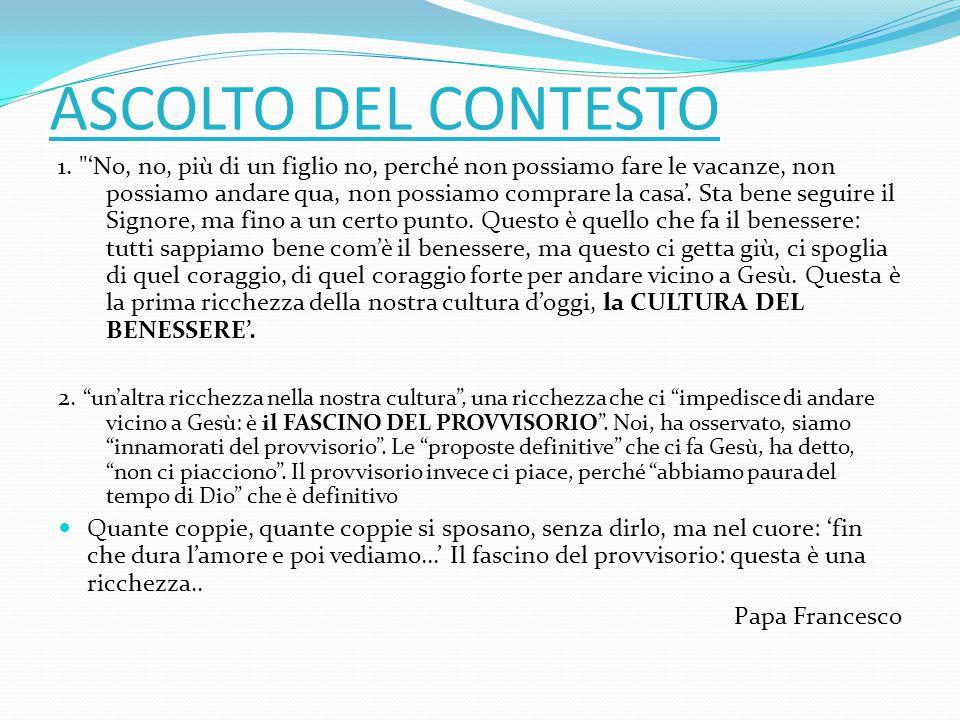 ASCOLTO DEL CONTESTO 1.