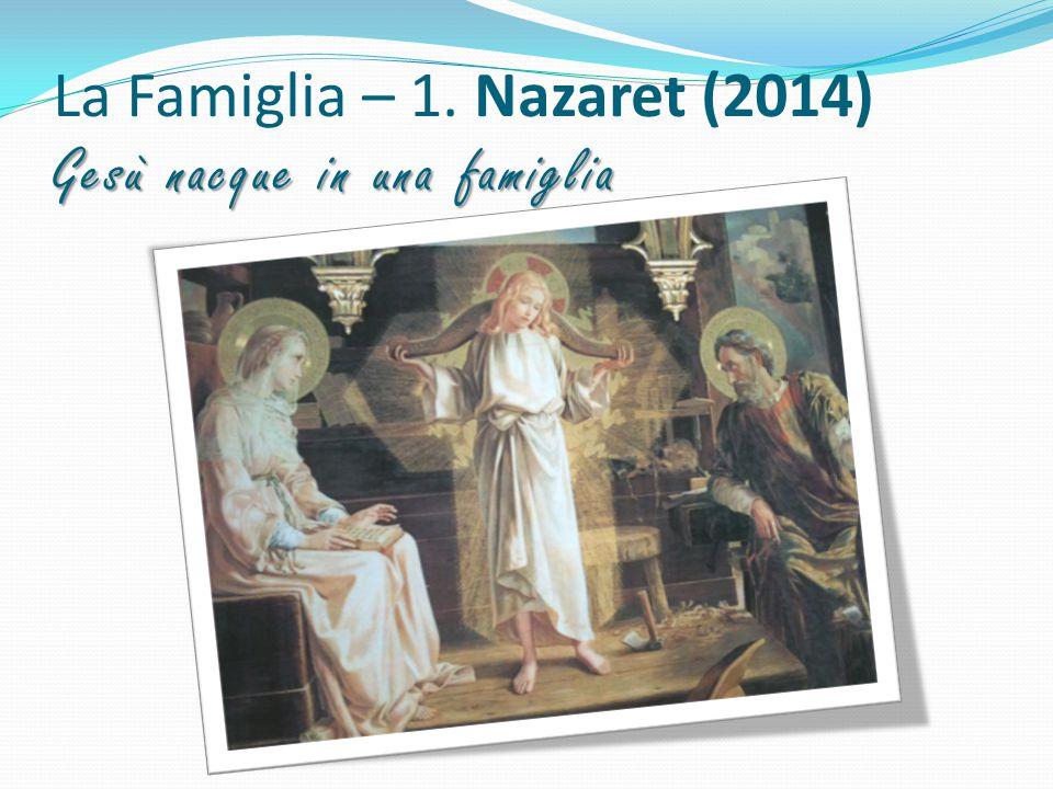 Gesù nacque in una famiglia La Famiglia – 1. Nazaret (2014) Gesù nacque in una famiglia