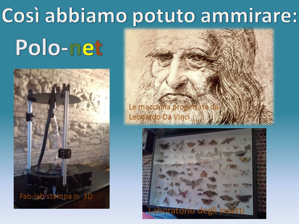… così abbiamo avuto l'opportunità di osservare le 33 macchine più importanti di Leonardo Da Vinci che rispecchiano il suo pensiero e il suo metodo di studio che anticipa quello moderno.
