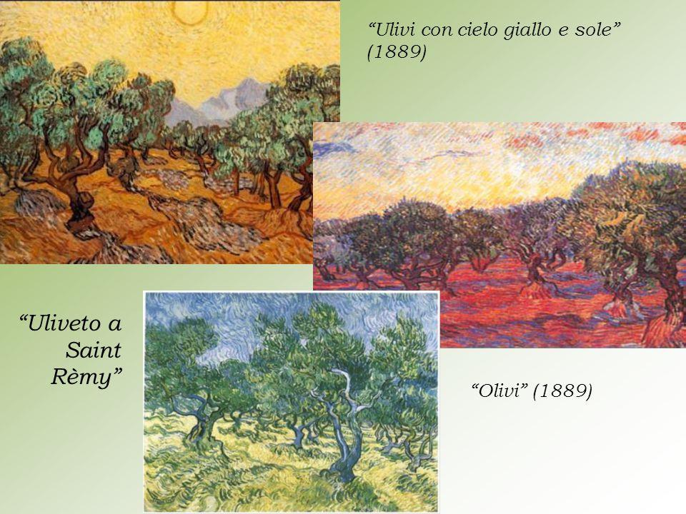 """""""Ulivi con cielo giallo e sole"""" (1889) """"Olivi"""" (1889) """"Uliveto a Saint Rèmy"""""""